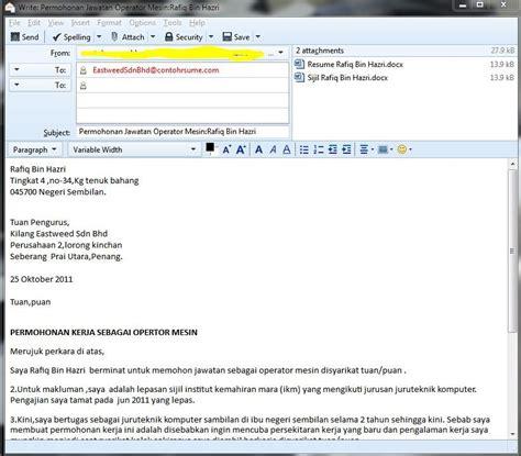 Contoh resume mintak kerja jpg 823x721